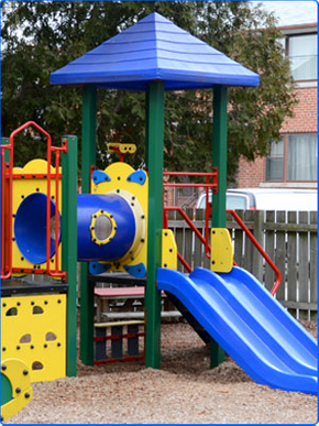 colorful playground slide